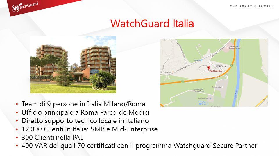 WatchGuard Italia Team di 9 persone in Italia Milano/Roma