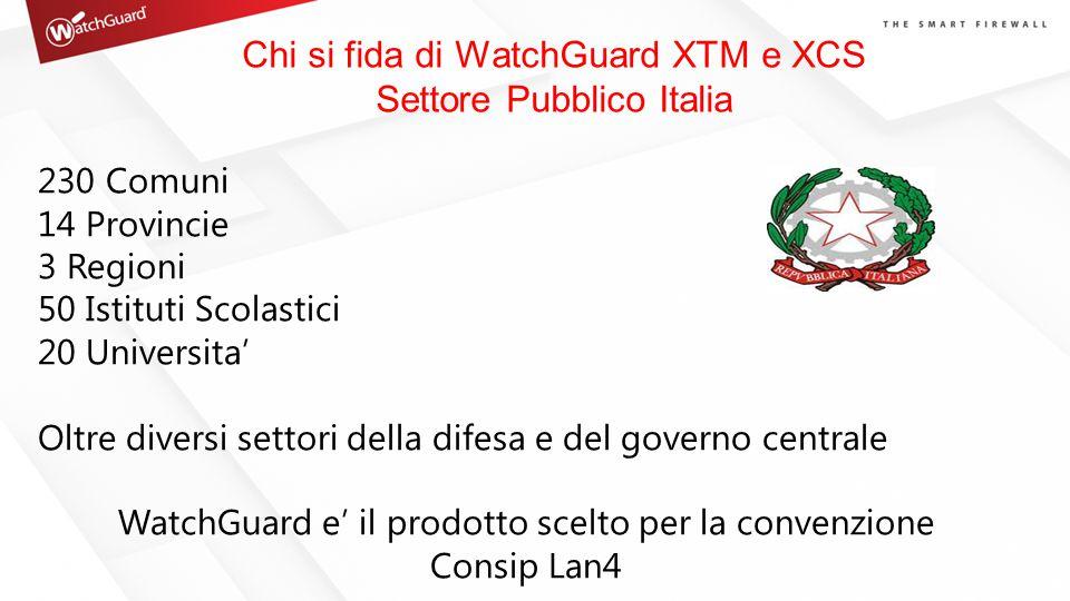 Chi si fida di WatchGuard XTM e XCS Settore Pubblico Italia