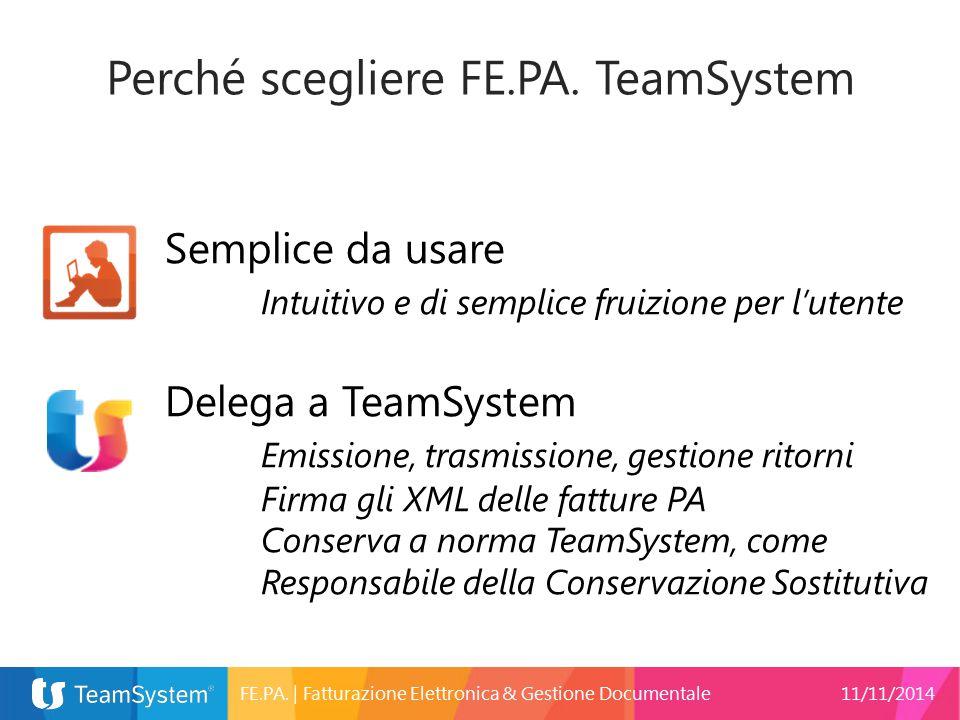 Perché scegliere FE.PA. TeamSystem