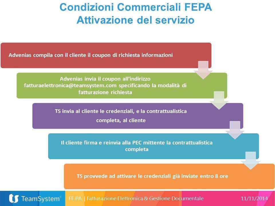 Condizioni Commerciali FEPA Attivazione del servizio