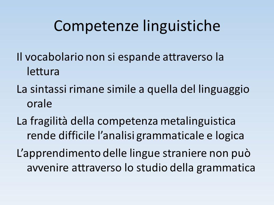 Competenze linguistiche
