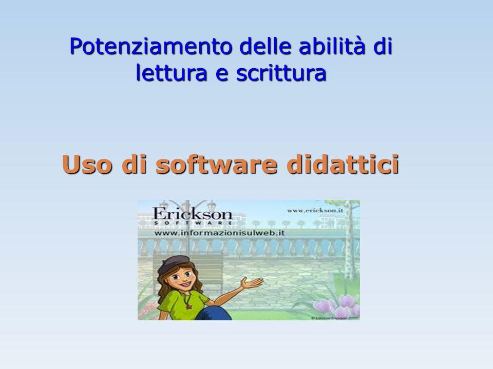 Uso di software didattici