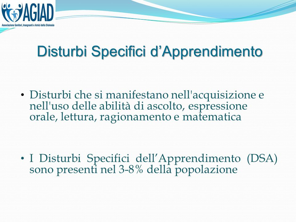 Disturbi Specifici d'Apprendimento