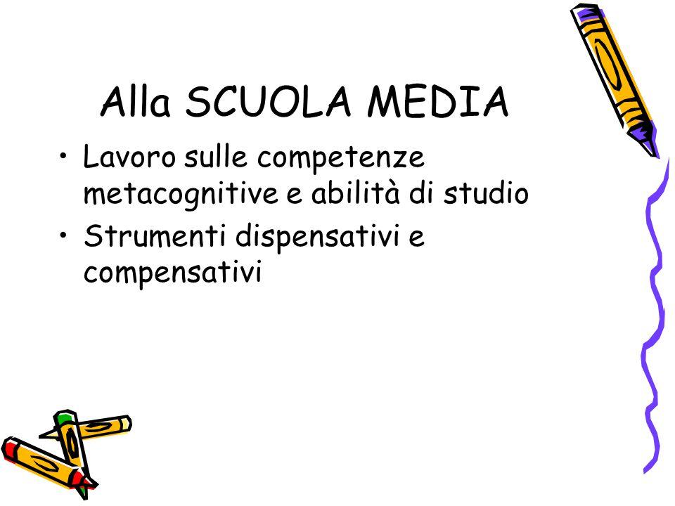 Alla SCUOLA MEDIA Lavoro sulle competenze metacognitive e abilità di studio.