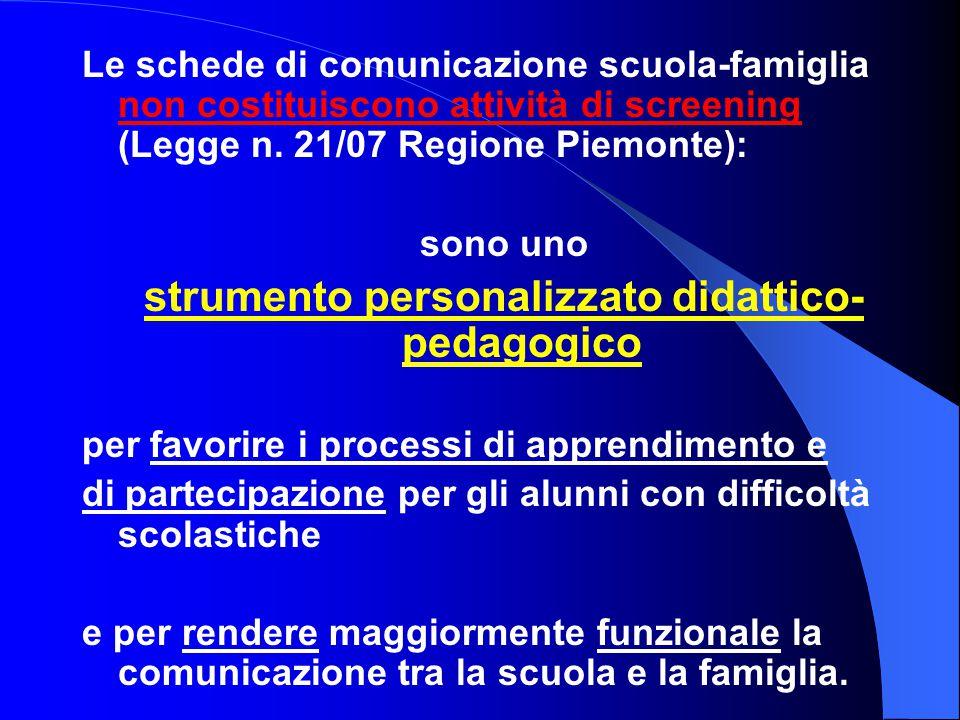 strumento personalizzato didattico-pedagogico
