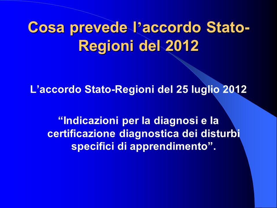 Cosa prevede l'accordo Stato-Regioni del 2012