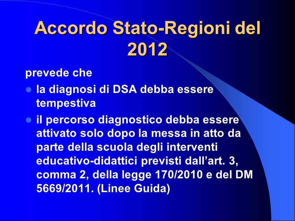 Accordo Stato-Regioni del 2012