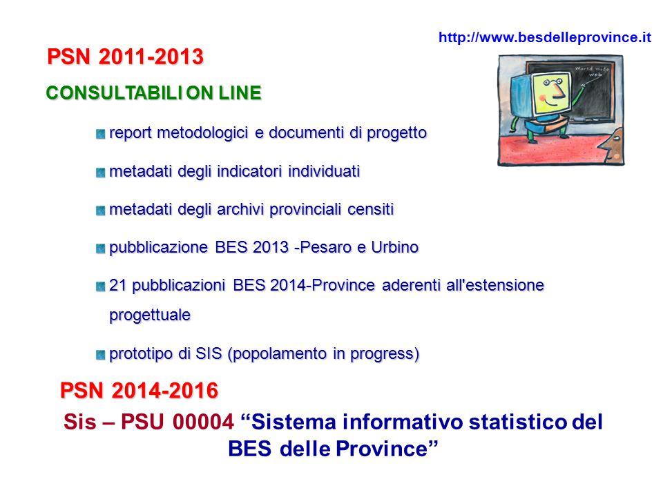 http://www.besdelleprovince.it PSN 2011-2013. CONSULTABILI ON LINE. report metodologici e documenti di progetto.