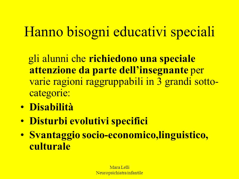 Hanno bisogni educativi speciali