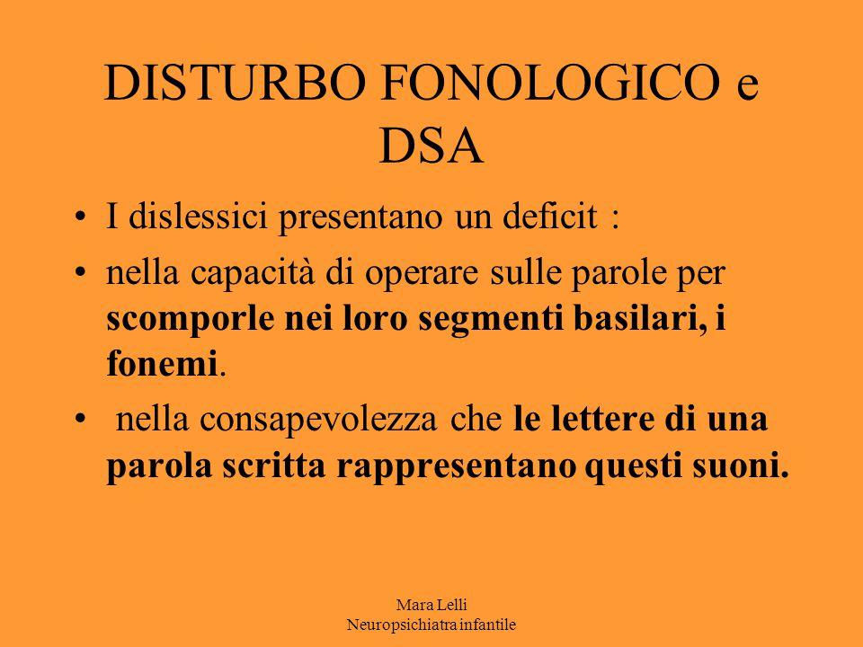 DISTURBO FONOLOGICO e DSA