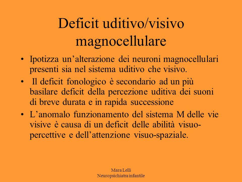 Deficit uditivo/visivo magnocellulare