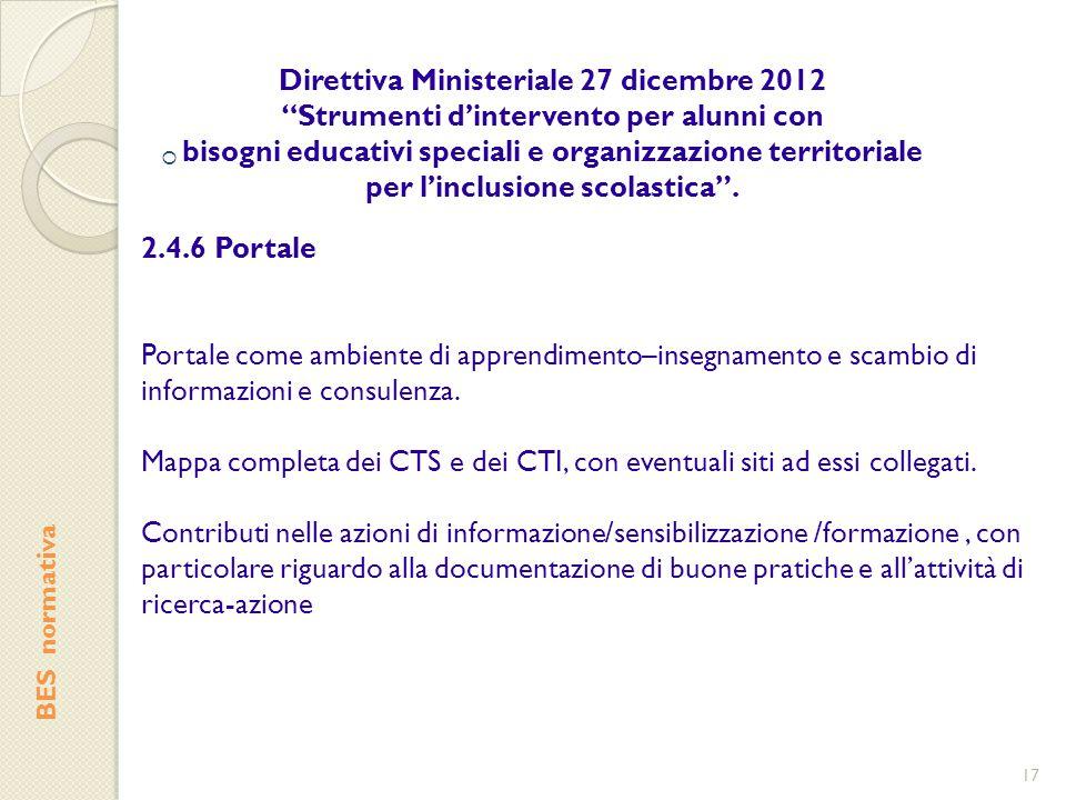 Direttiva Ministeriale 27 dicembre 2012