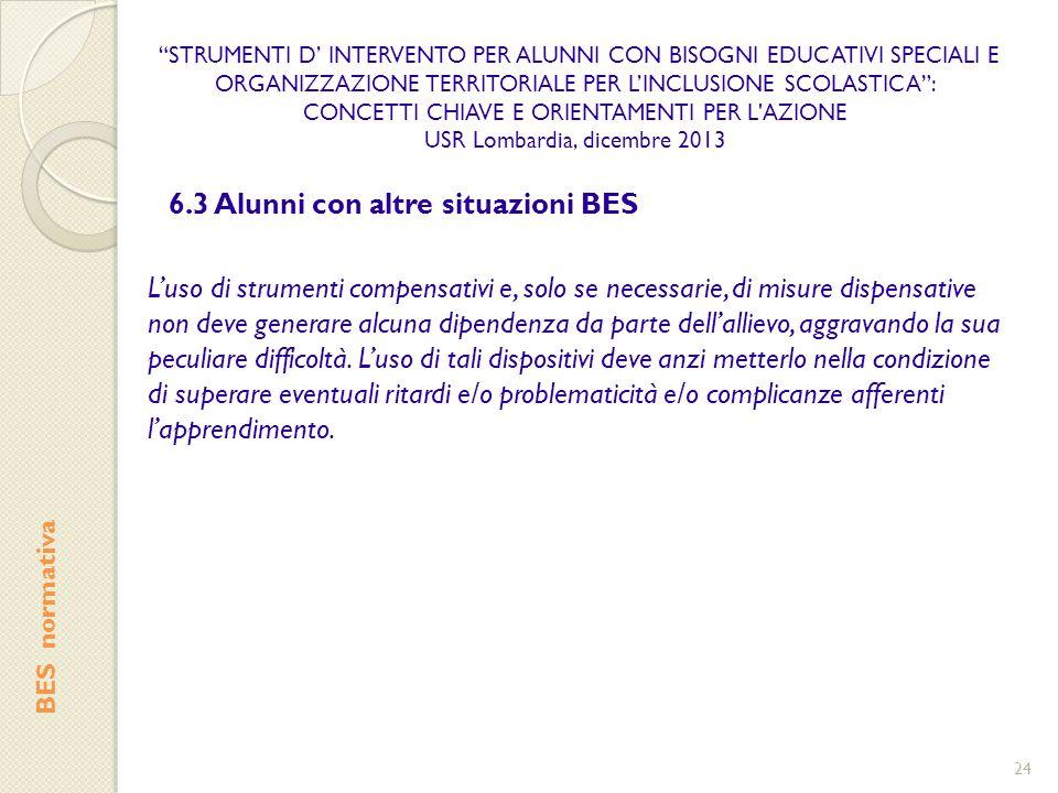 6.3 Alunni con altre situazioni BES