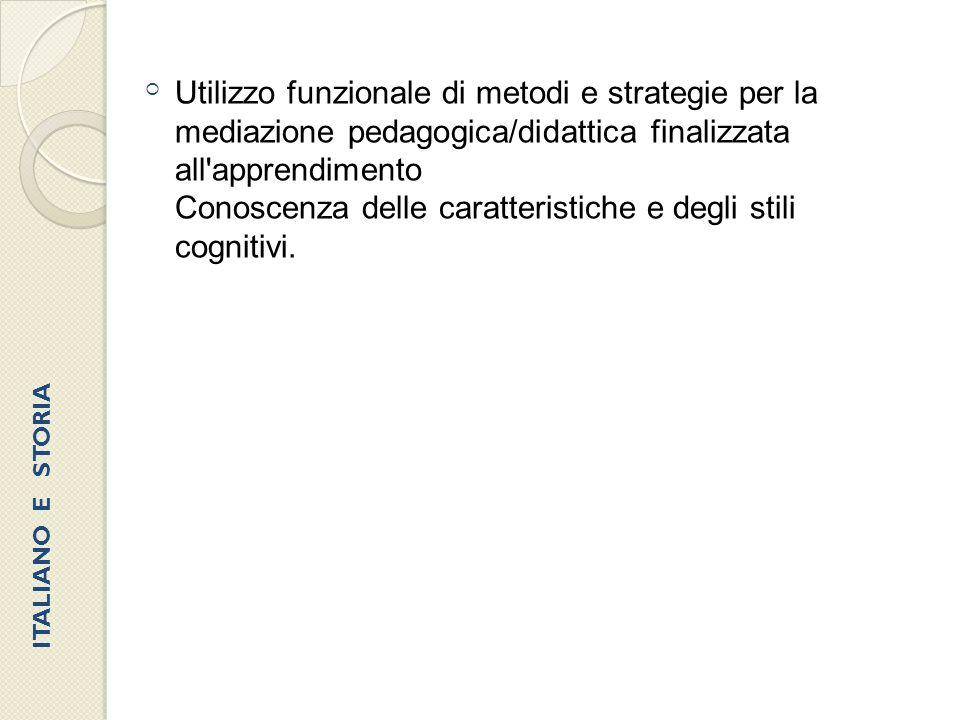 Conoscenza delle caratteristiche e degli stili cognitivi.