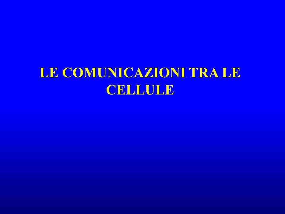 LE COMUNICAZIONI TRA LE CELLULE