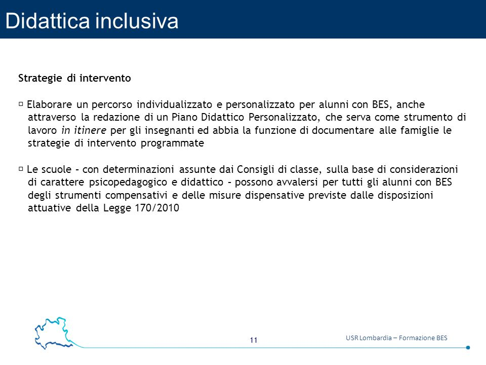 Didattica inclusiva Strategie di intervento