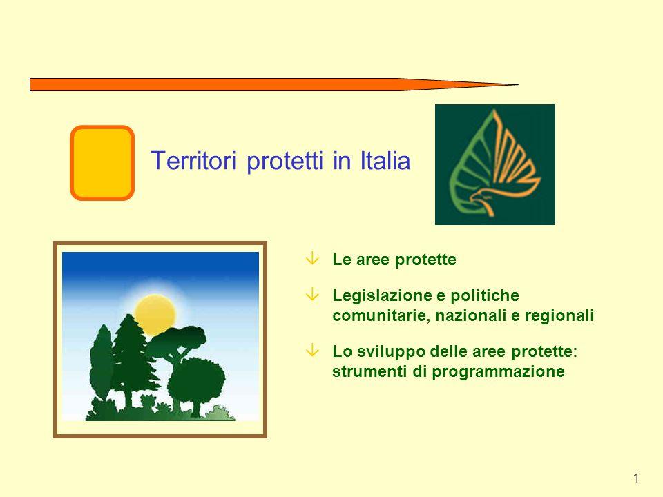 Territori protetti in Italia