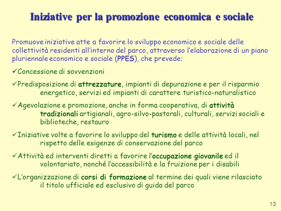 Iniziative per la promozione economica e sociale