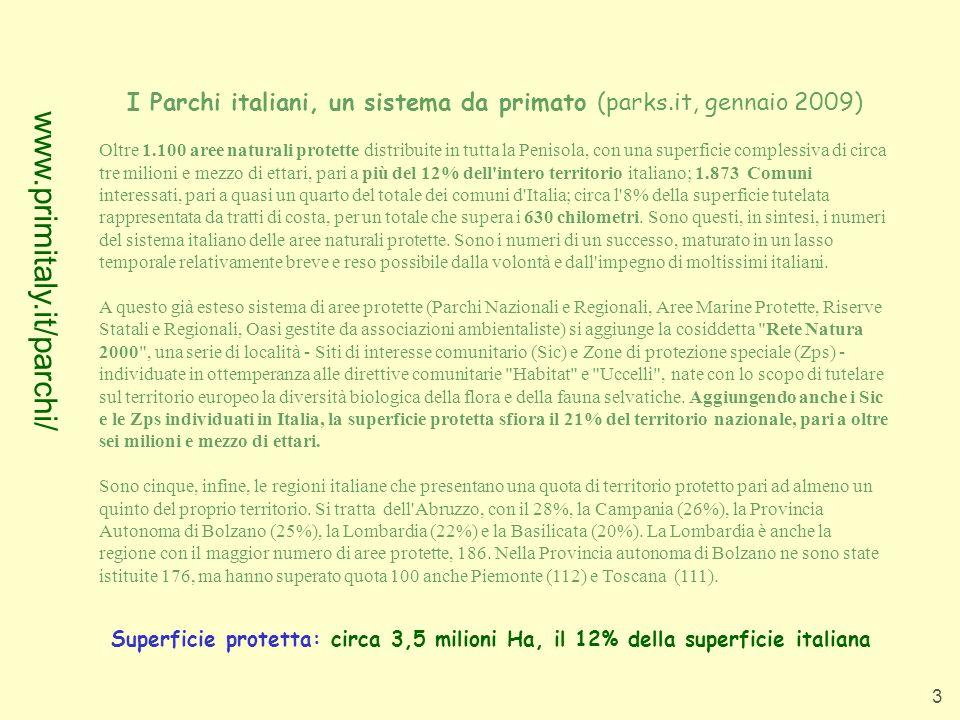 I Parchi italiani, un sistema da primato (parks.it, gennaio 2009)