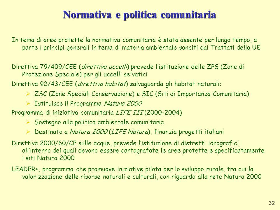 Normativa e politica comunitaria