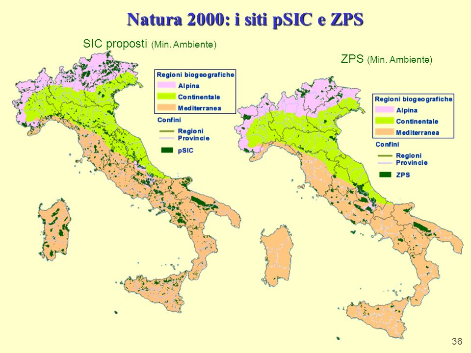 Natura 2000: i siti pSIC e ZPS