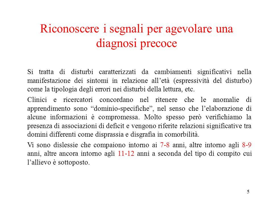 Riconoscere i segnali per agevolare una diagnosi precoce