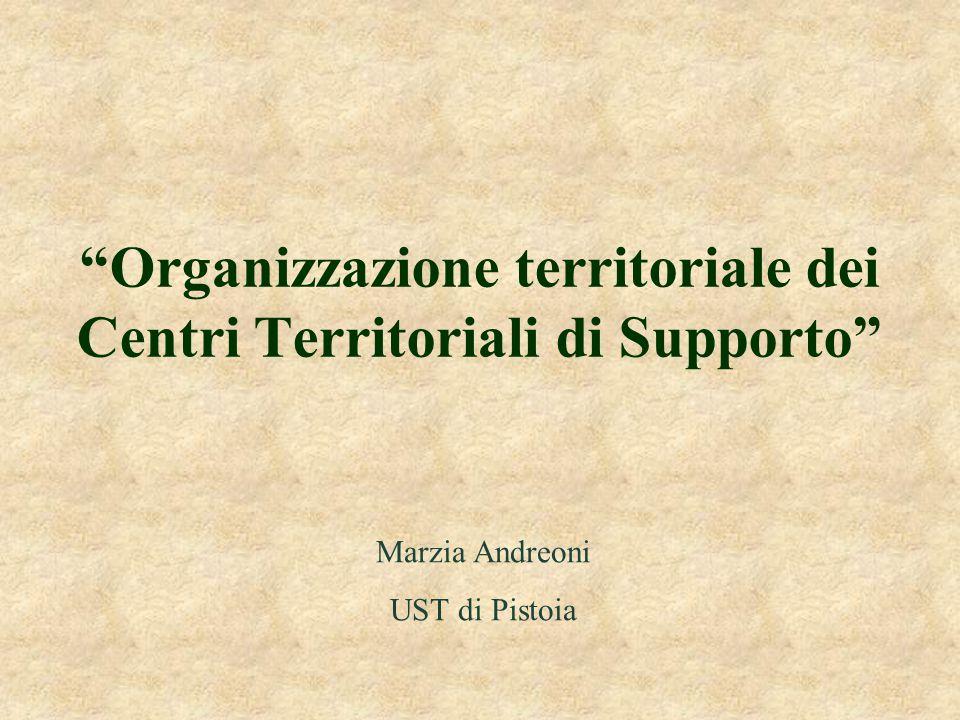 Organizzazione territoriale dei Centri Territoriali di Supporto