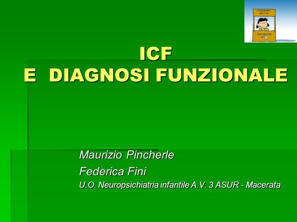 ICF E DIAGNOSI FUNZIONALE