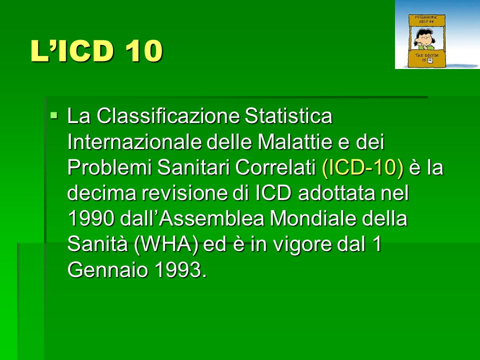 L'ICD 10