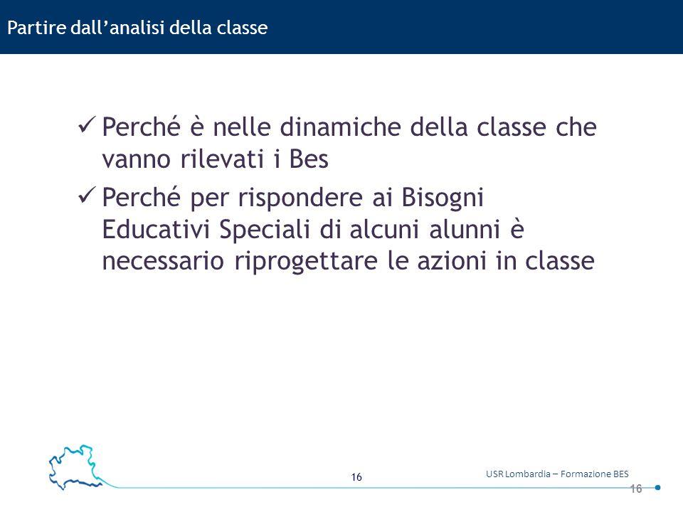 Partire dall'analisi della classe