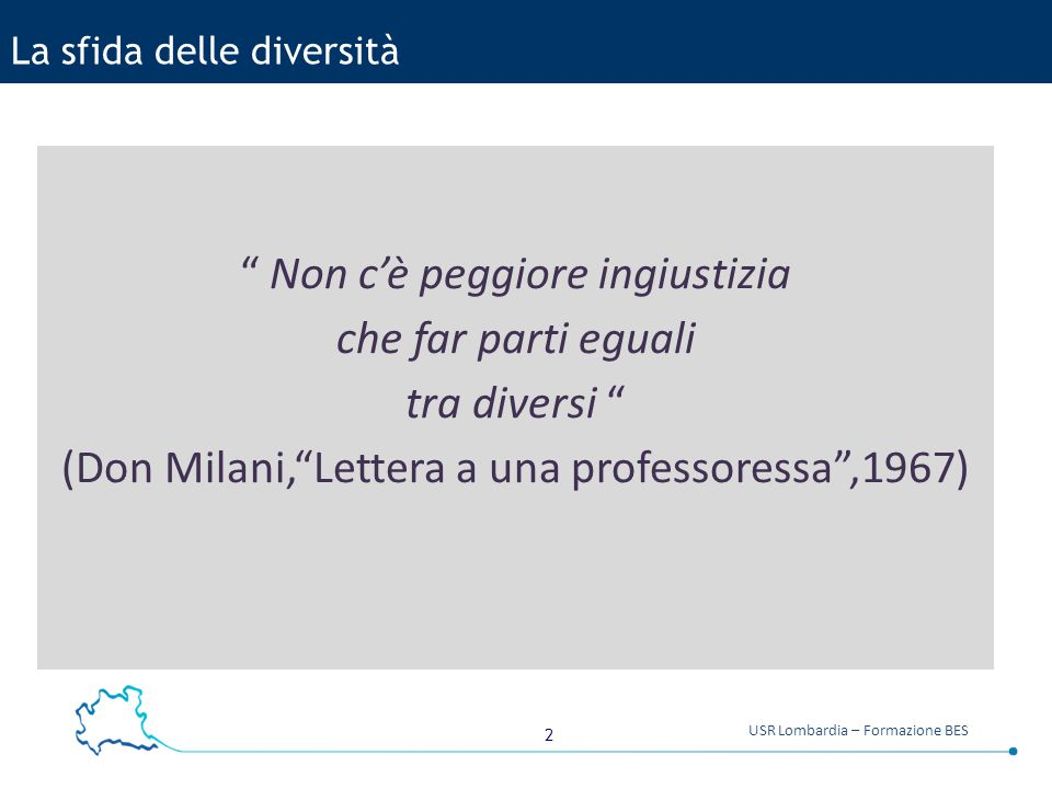 La sfida delle diversità