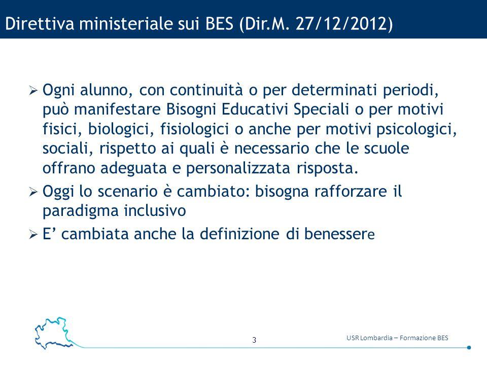 Direttiva ministeriale sui BES (Dir.M. 27/12/2012)