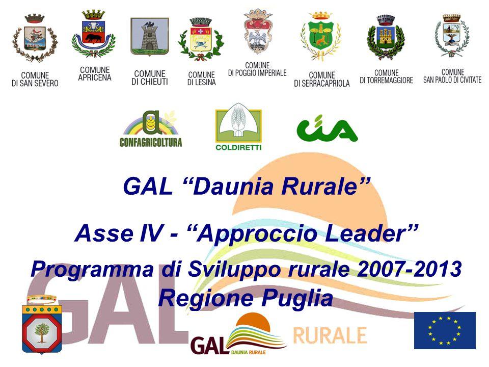 GAL Daunia Rurale Asse IV - Approccio Leader