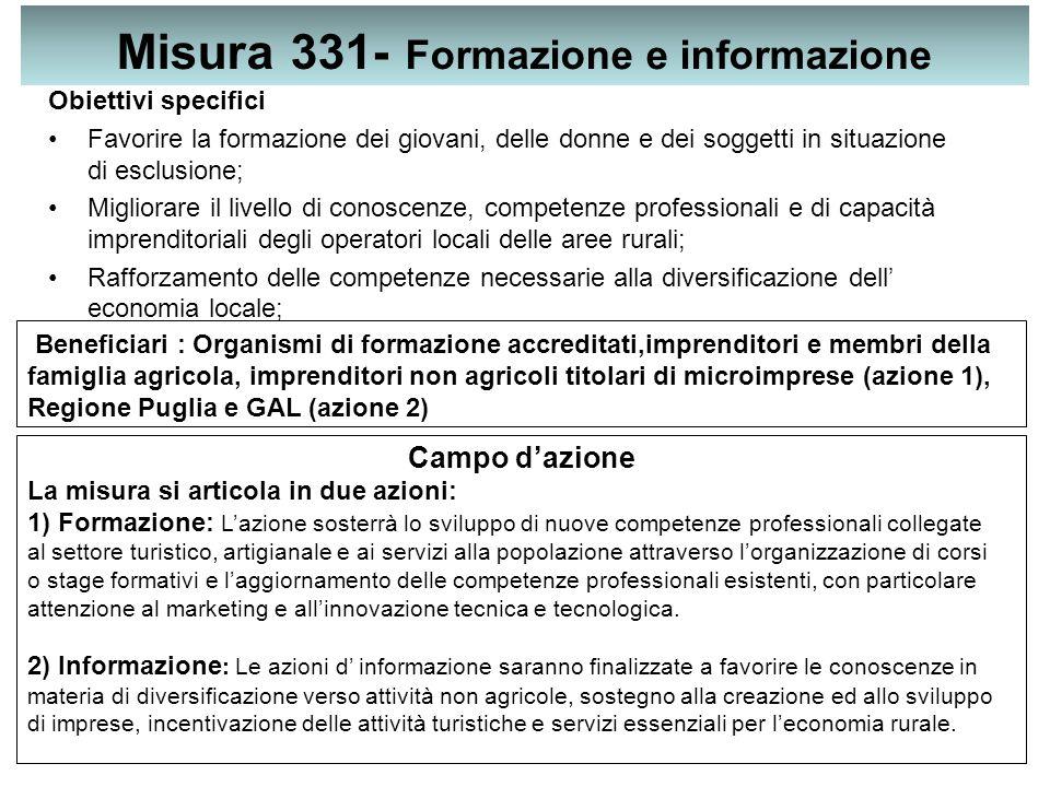 Misura 331- Formazione e informazione