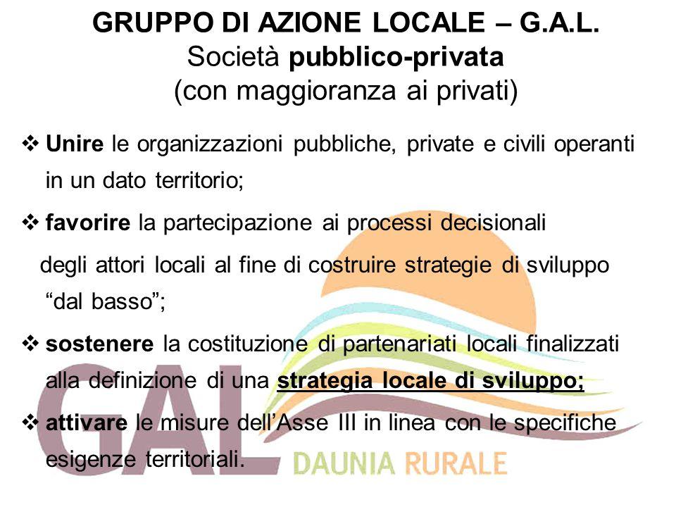 GRUPPO DI AZIONE LOCALE – G. A. L