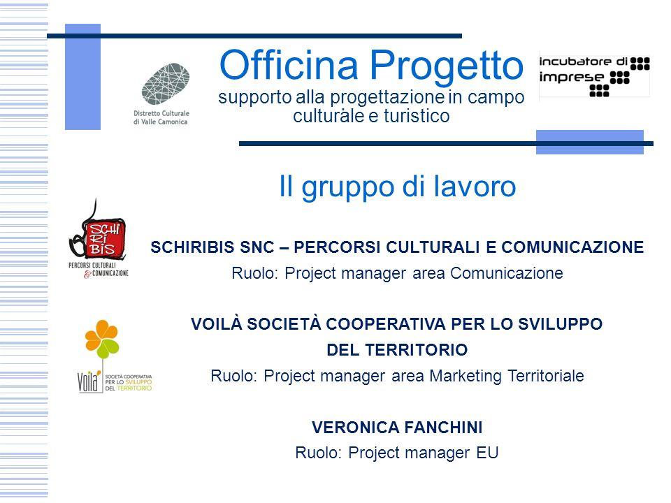Officina Progetto supporto alla progettazione in campo culturale e turistico