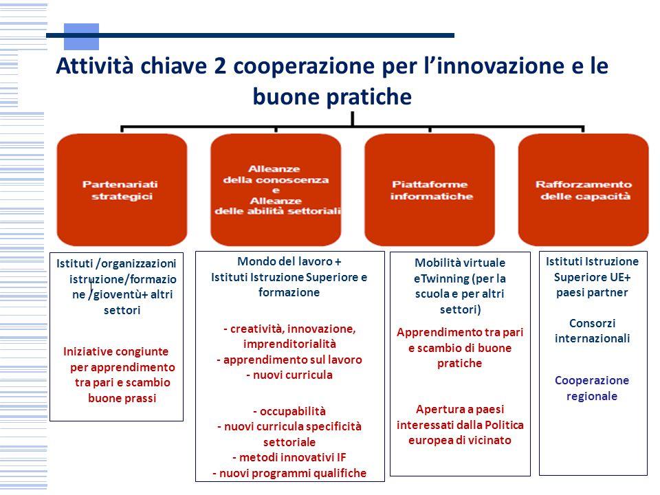 Attività chiave 2 cooperazione per l'innovazione e le buone pratiche