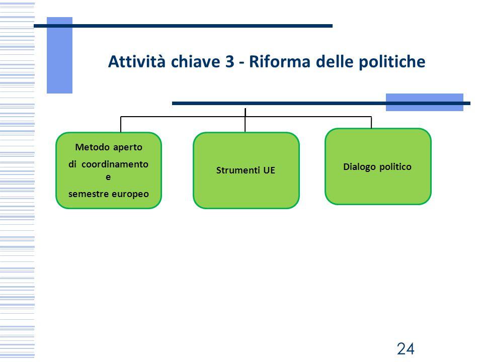 Attività chiave 3 - Riforma delle politiche