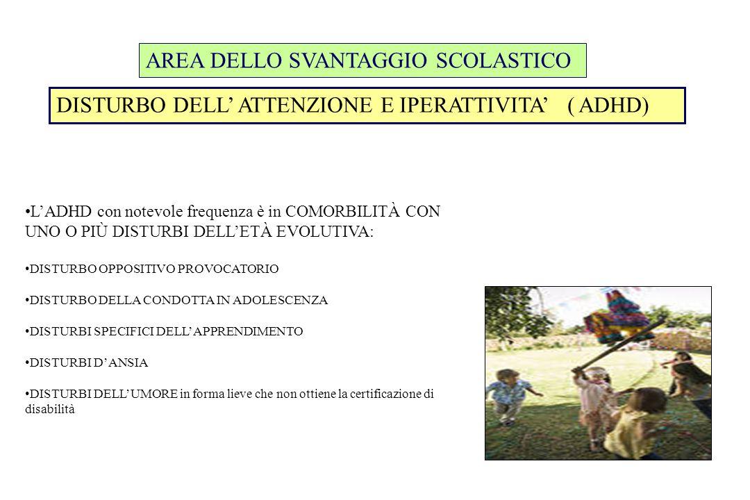 AREA DELLO SVANTAGGIO SCOLASTICO