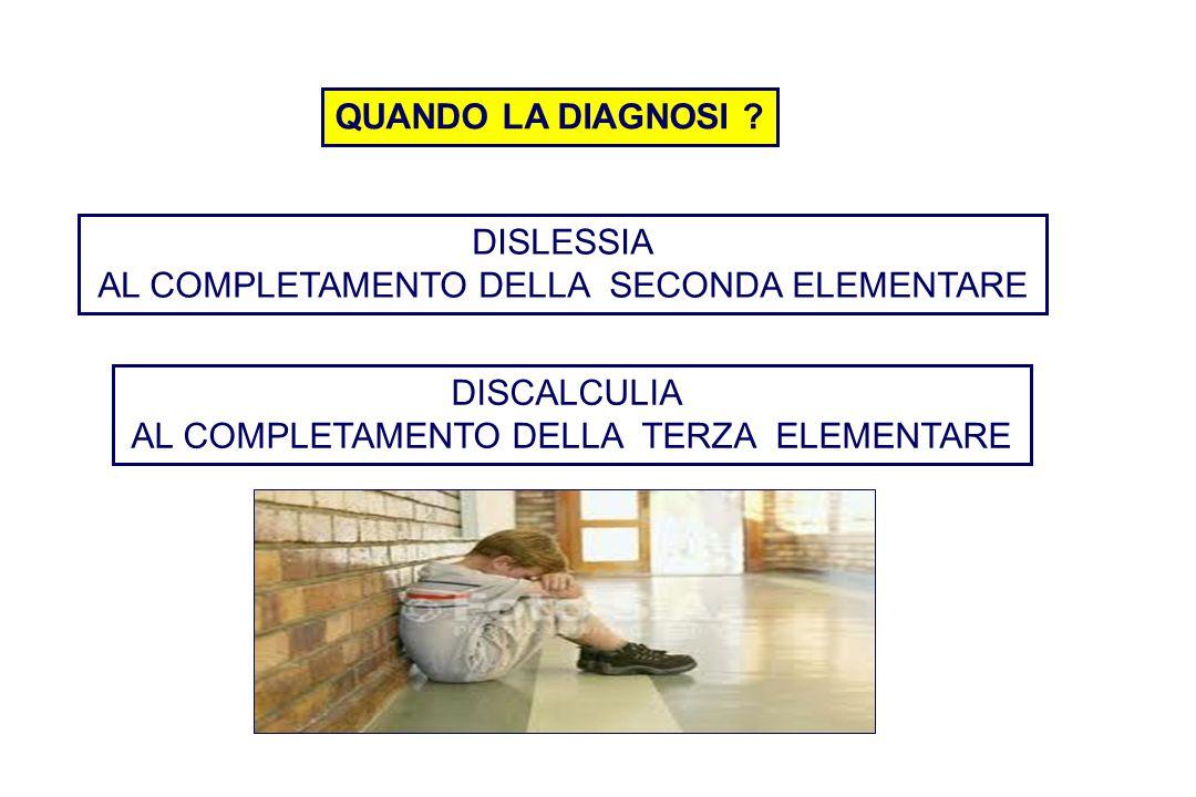 DISLESSIA AL COMPLETAMENTO DELLA SECONDA ELEMENTARE