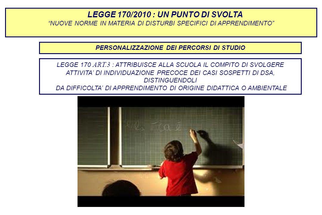 PERSONALIZZAZIONE DEI PERCORSI DI STUDIO