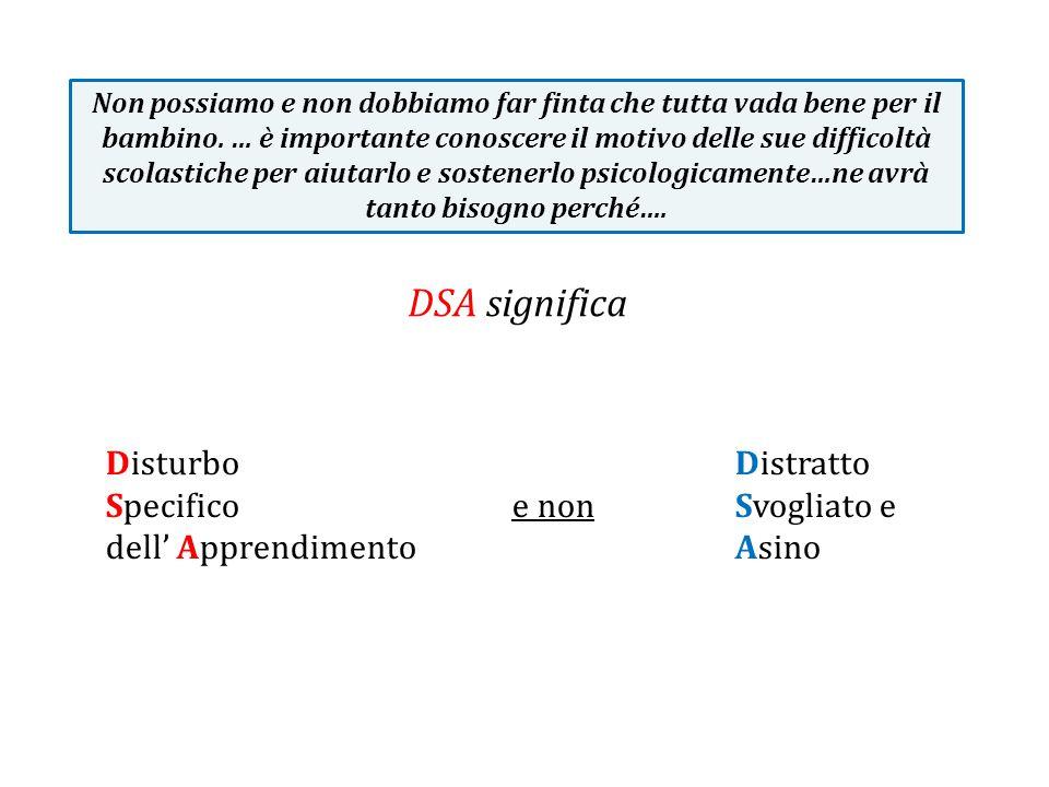 DSA significa Disturbo Distratto Specifico e non Svogliato e