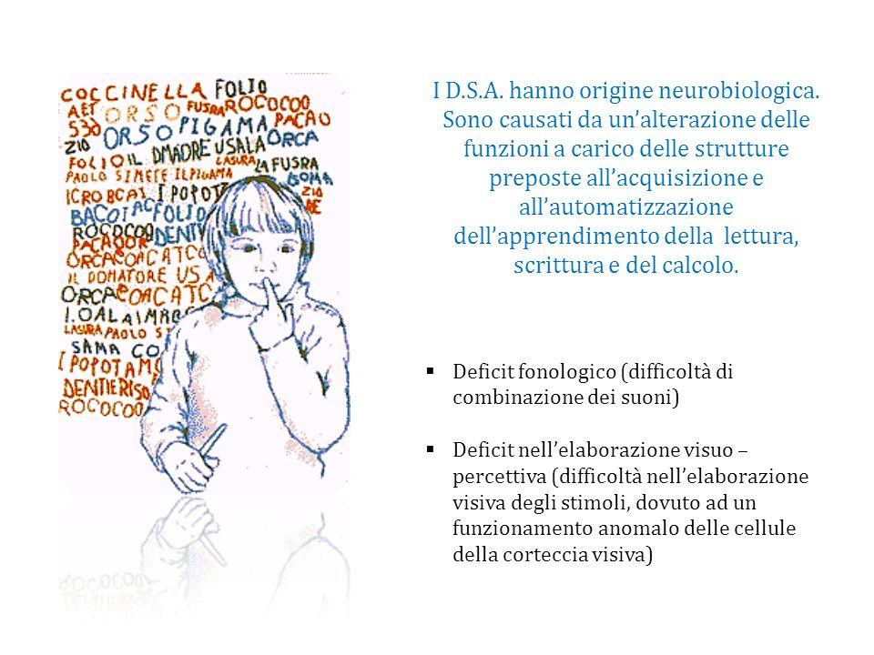 I D. S. A. hanno origine neurobiologica