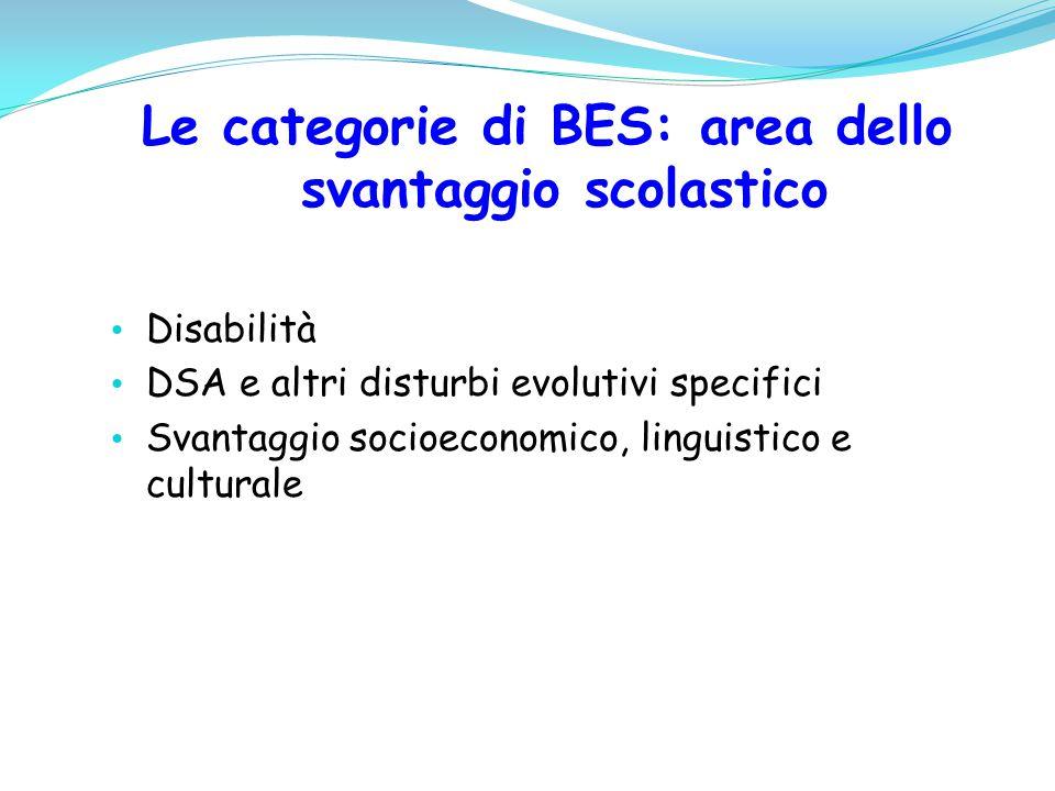 Le categorie di BES: area dello svantaggio scolastico