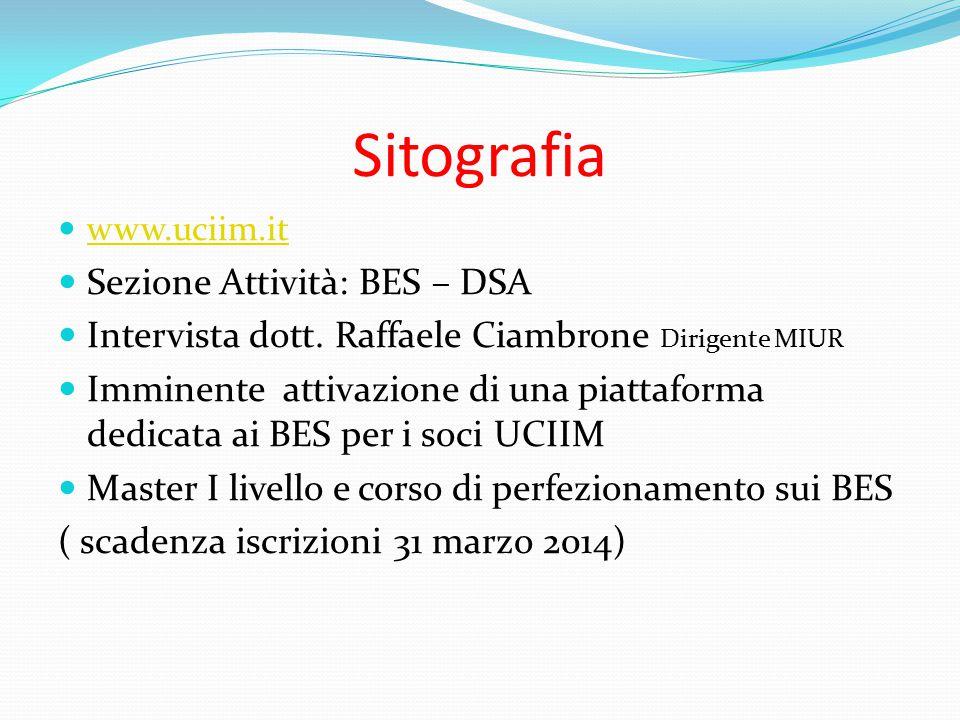 Sitografia Sezione Attività: BES – DSA