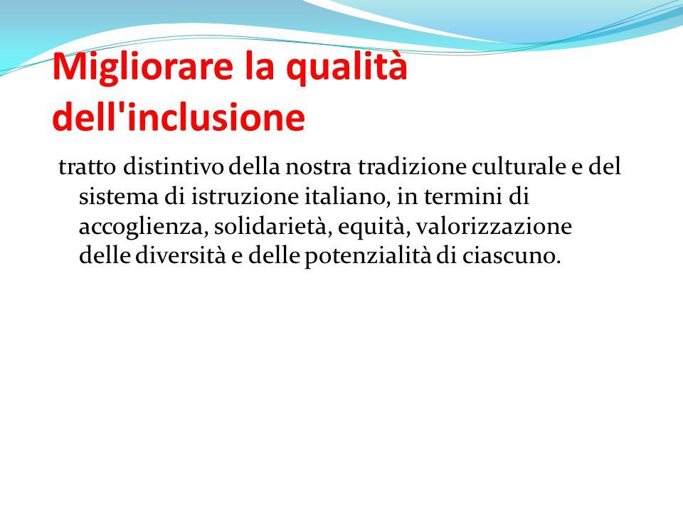 Migliorare la qualità dell inclusione
