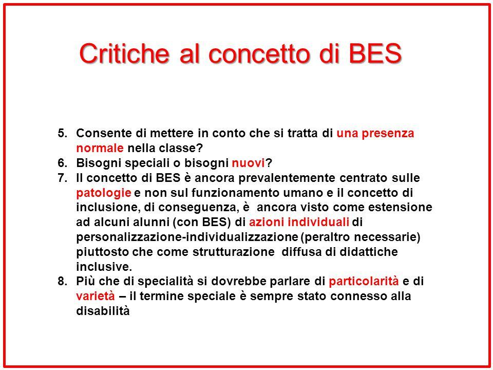 Critiche al concetto di BES