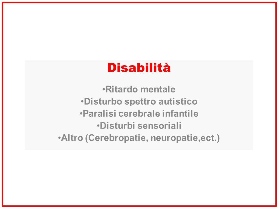 Disabilità Ritardo mentale Disturbo spettro autistico
