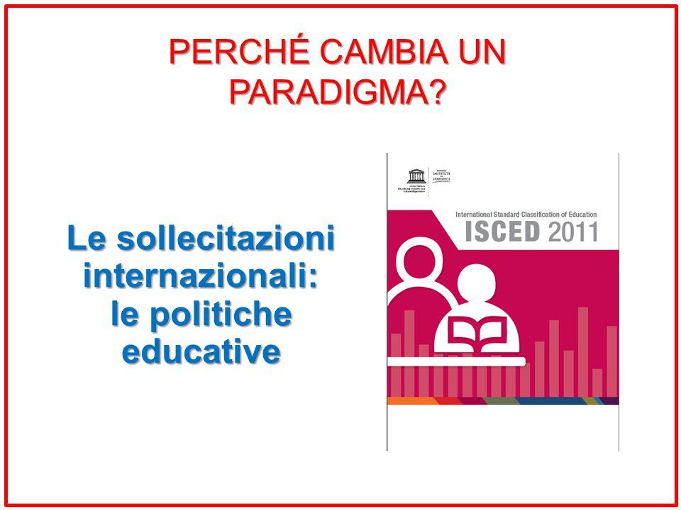 Le sollecitazioni internazionali: le politiche educative