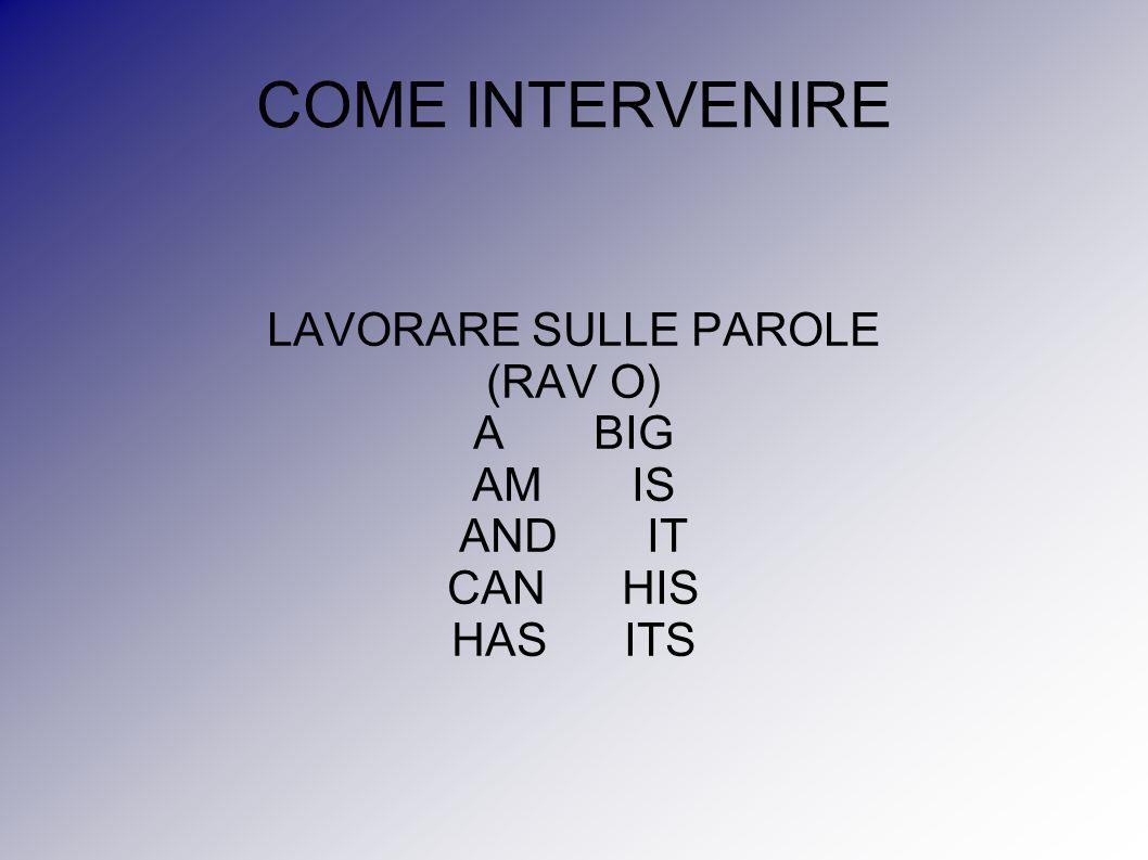 LAVORARE SULLE PAROLE (RAV O)‏ A BIG AM IS AND IT CAN HIS HAS ITS